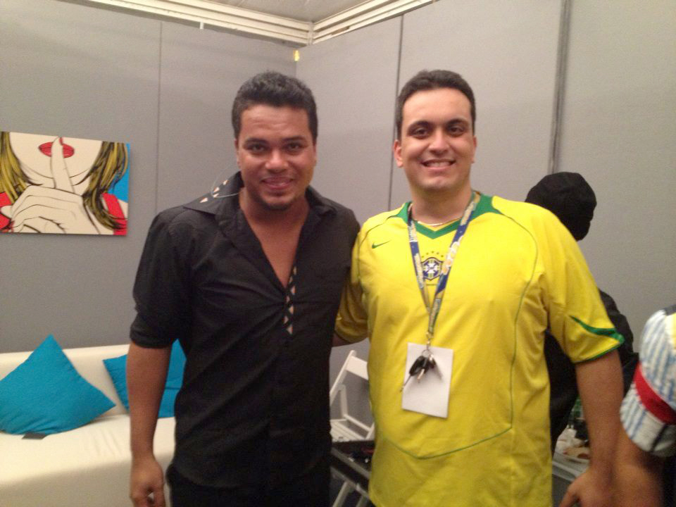 Dj Brasiliano Dj Teddy do Brasil e Il vocalista dei Sorriso Maroto Bruno Cardoso